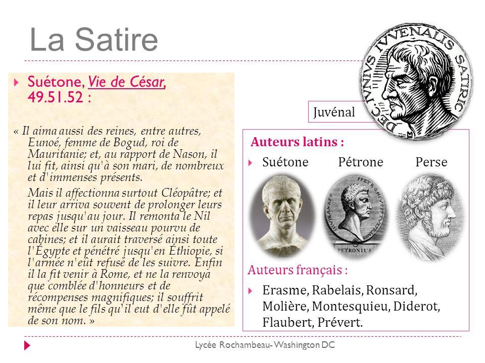 La Satire Suétone, Vie de César, 49.51.52 : Auteurs latins : Juvénal