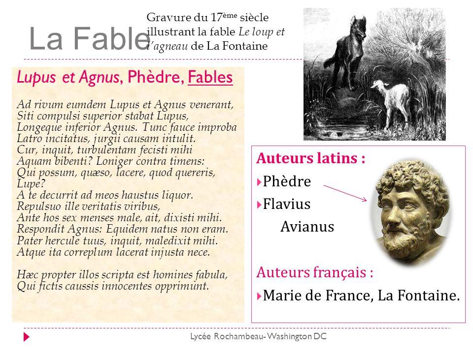 La Fable Lupus et Agnus, Phèdre, Fables Auteurs latins : Phèdre