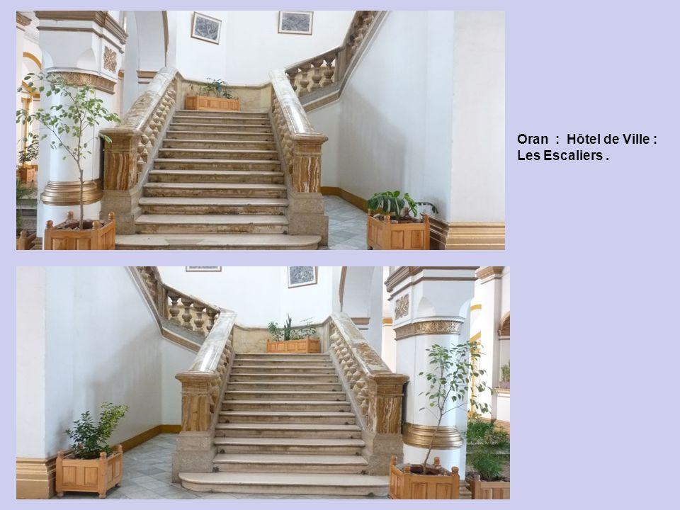 Oran : Hôtel de Ville : Les Escaliers .