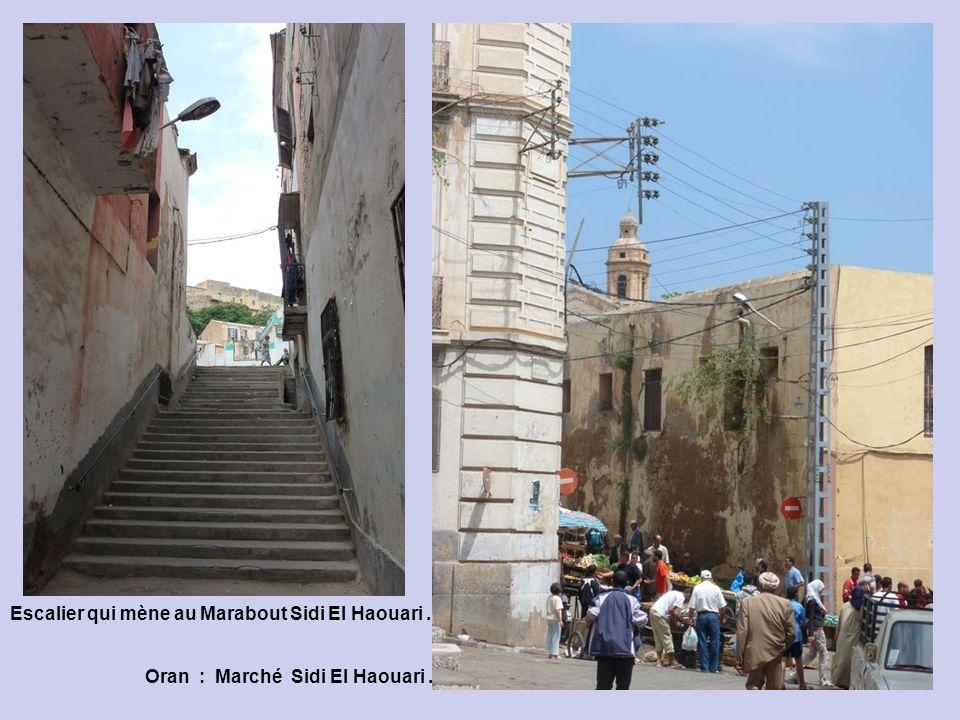 Escalier qui mène au Marabout Sidi El Haouari .