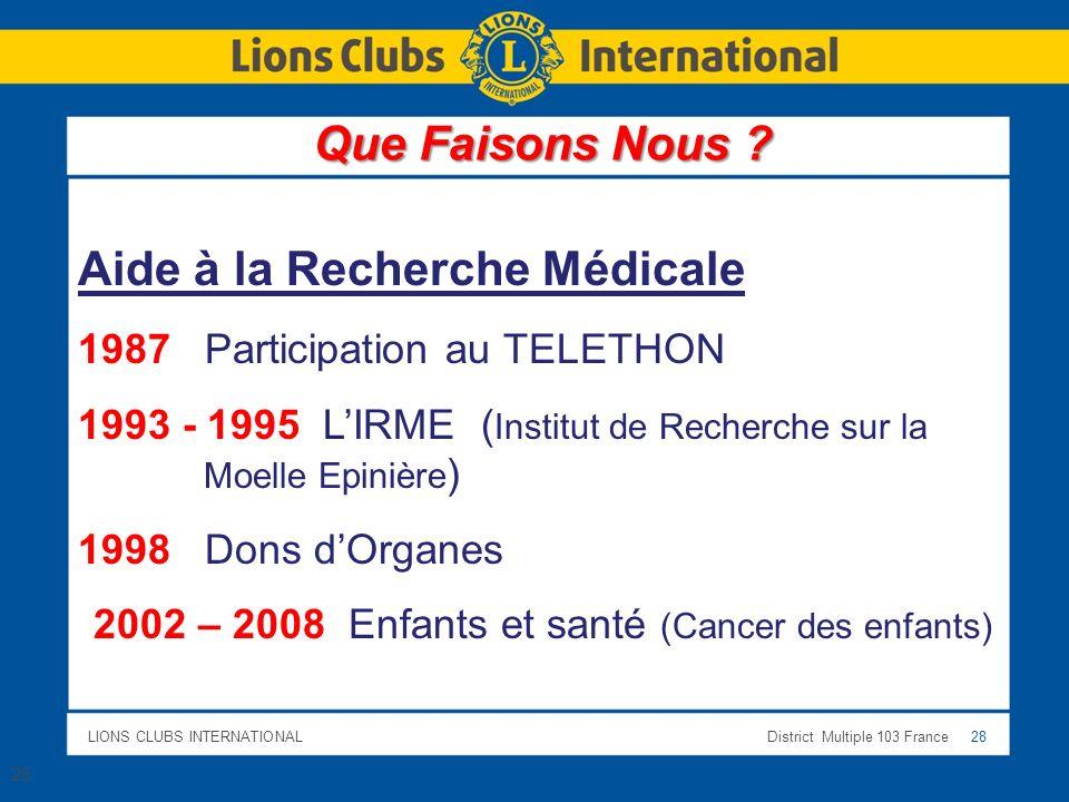 2002 – 2008 Enfants et santé (Cancer des enfants)