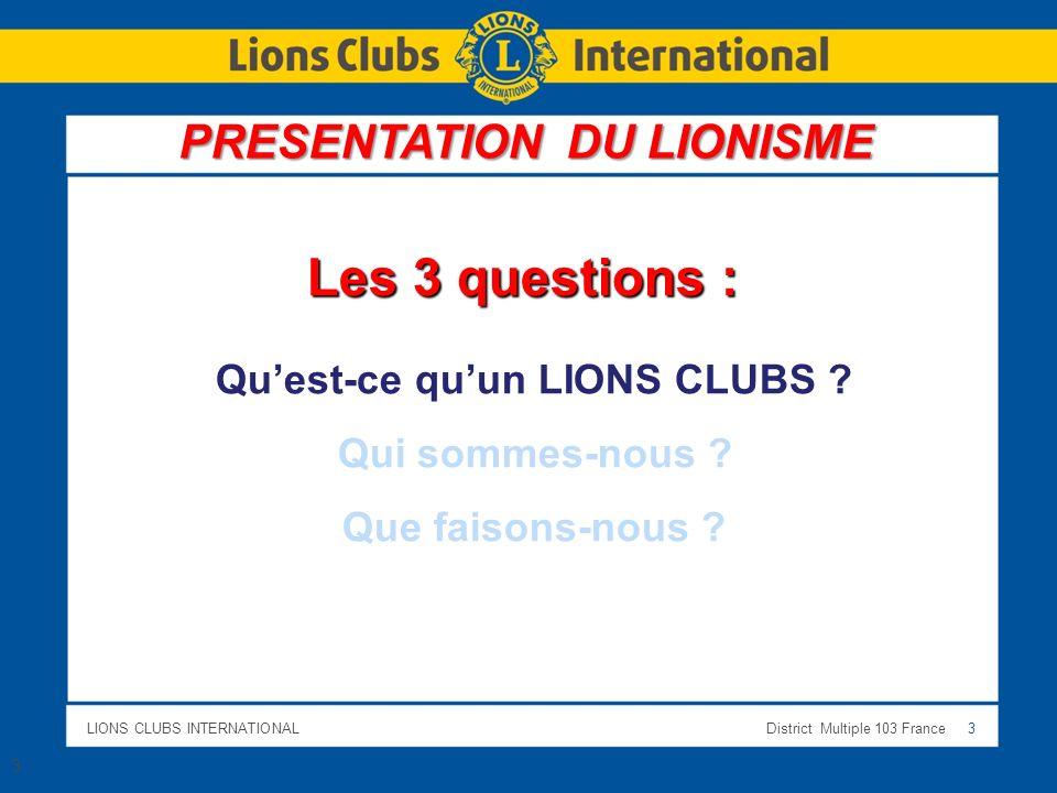 Qu'est-ce qu'un LIONS CLUBS