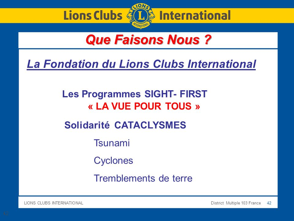 La Fondation du Lions Clubs International