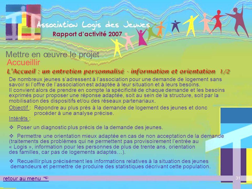 L'Accueil : un entretien personnalisé - information et orientation 1/2