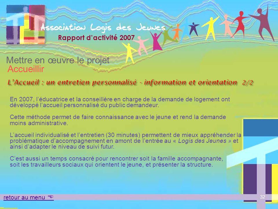 L'Accueil : un entretien personnalisé - information et orientation 2/2
