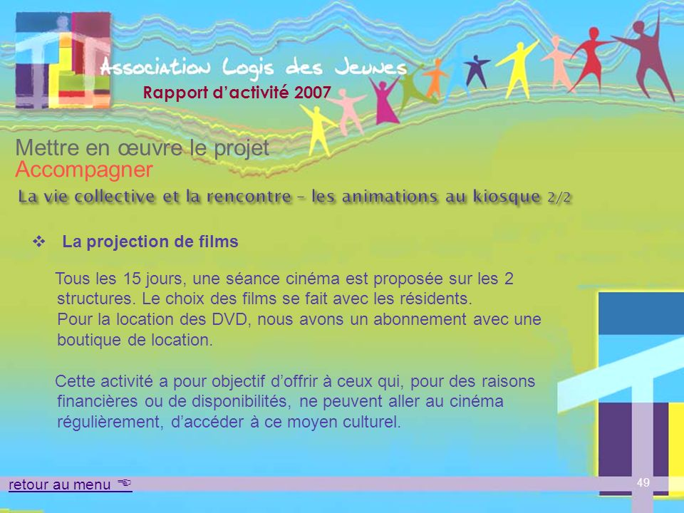 La vie collective et la rencontre – les animations au kiosque 2/2