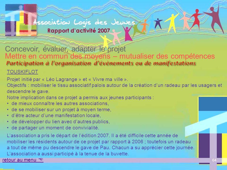 Participation à l'organisation d'évènements ou de manifestations