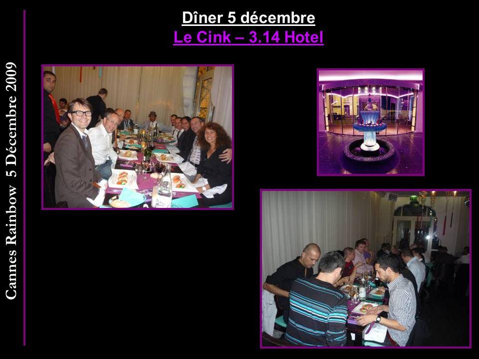 Dîner 5 décembre Le Cink – 3.14 Hotel
