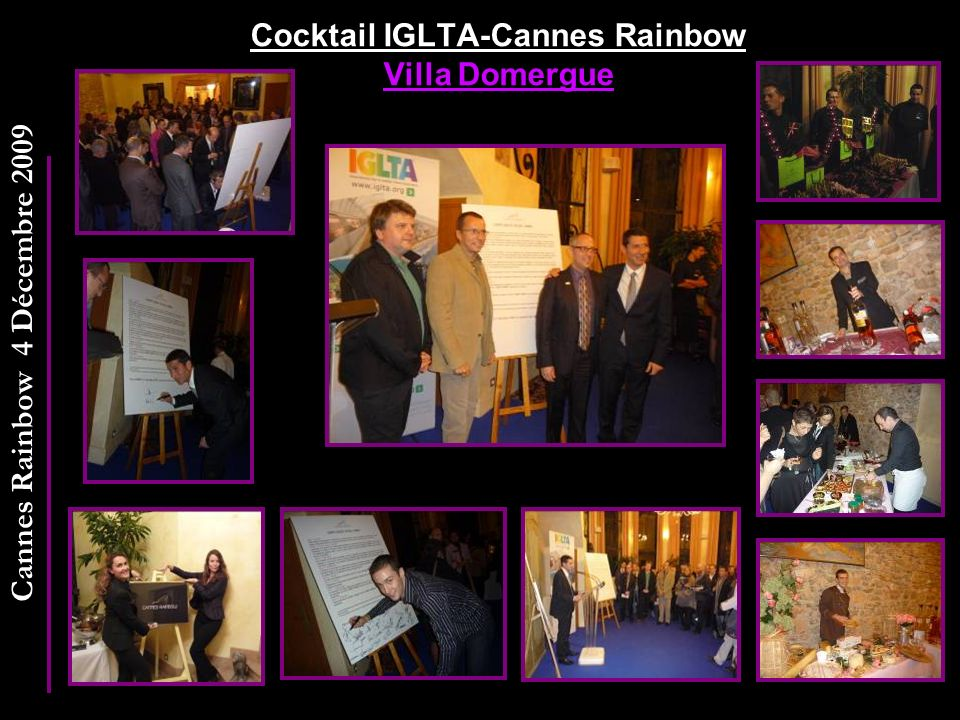 Cocktail IGLTA-Cannes Rainbow Villa Domergue