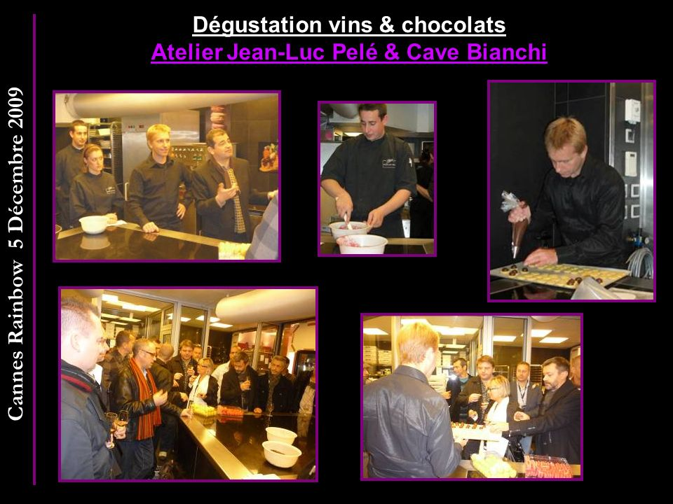 Dégustation vins & chocolats Atelier Jean-Luc Pelé & Cave Bianchi