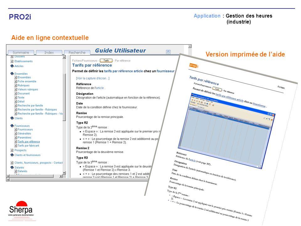 PRO2i Aide en ligne contextuelle Version imprimée de l'aide
