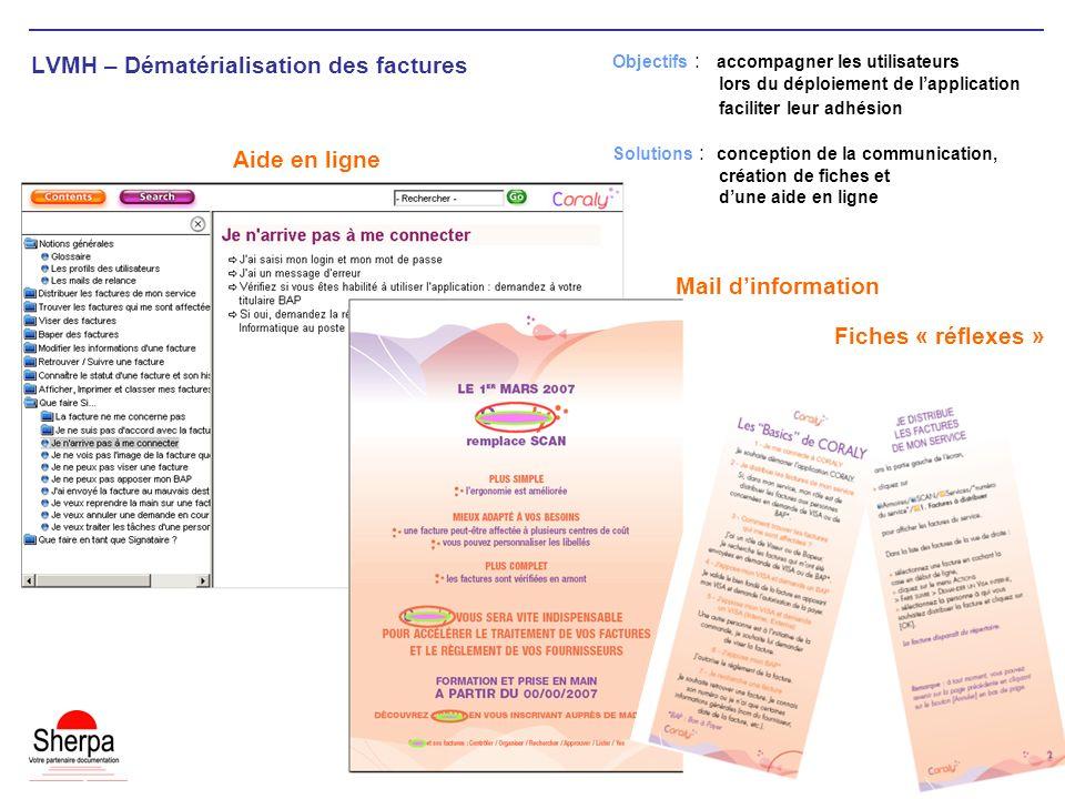 LVMH – Dématérialisation des factures