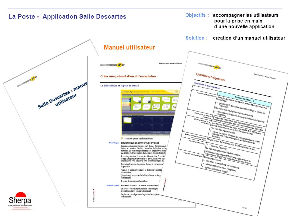 La Poste - Application Salle Descartes