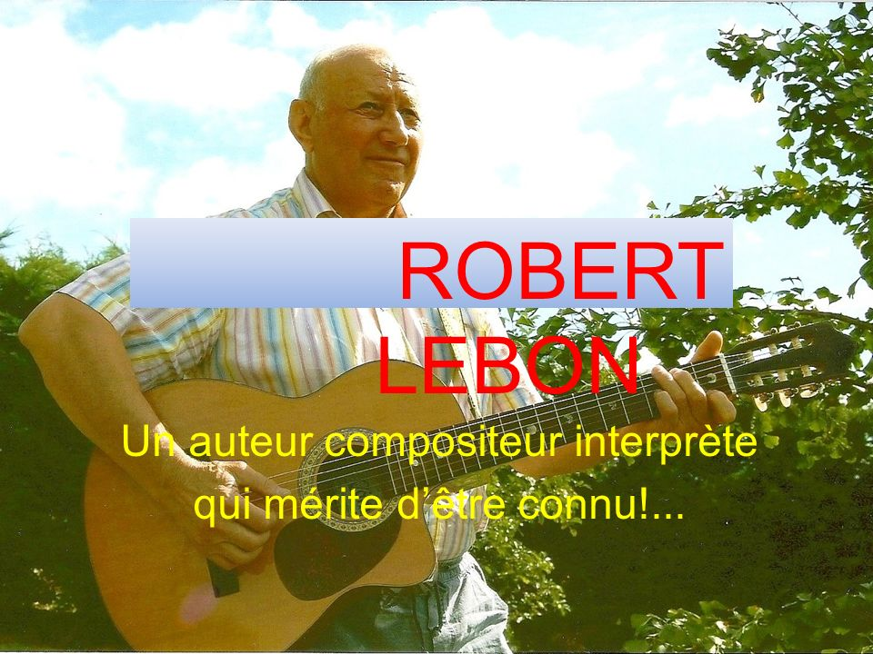 Un auteur compositeur interprète qui mérite d'être connu!...