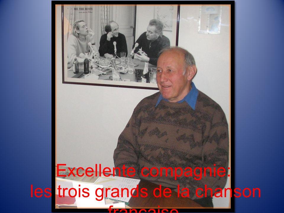 Excellente compagnie: les trois grands de la chanson française