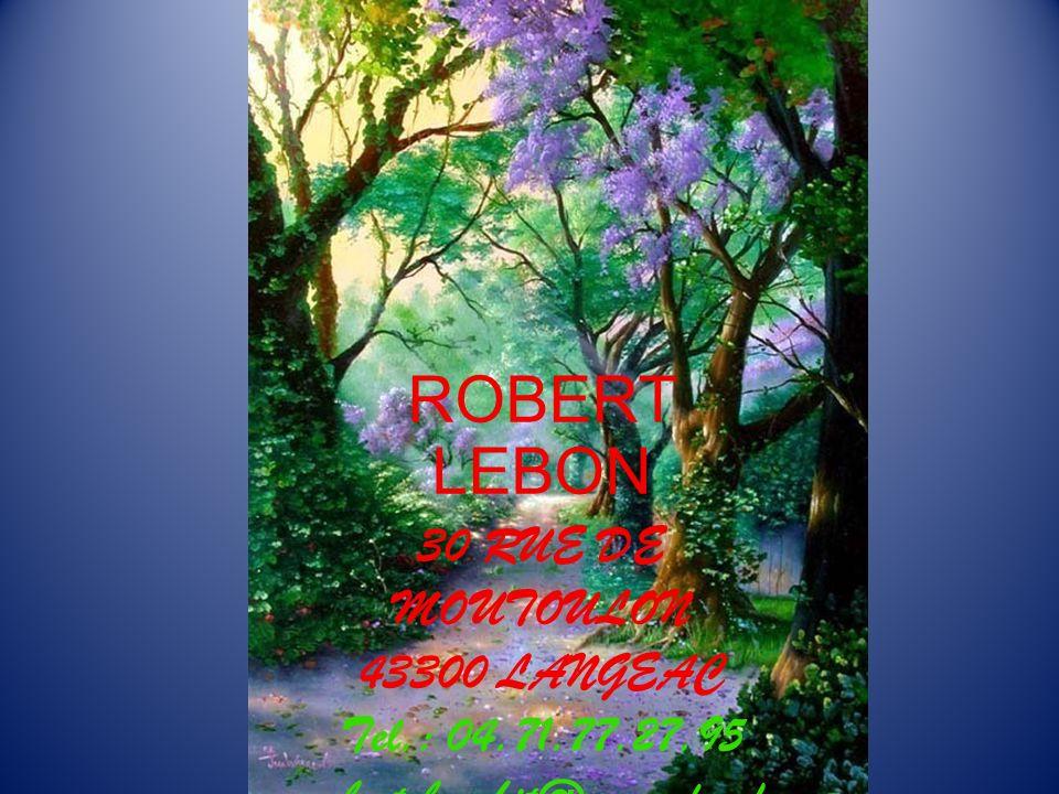 ROBERT LEBON 30 RUE DE MOUTOULON 43300 LANGEAC Tel. : 04. 71. 77. 27