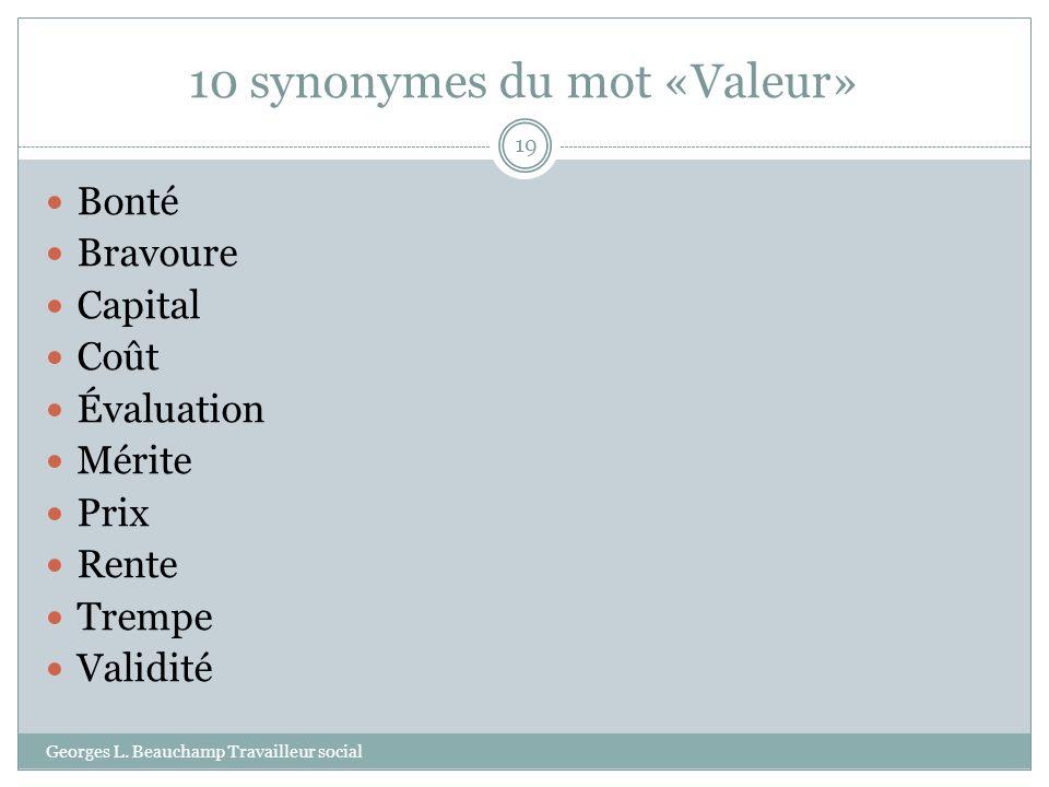 10 synonymes du mot «Valeur»