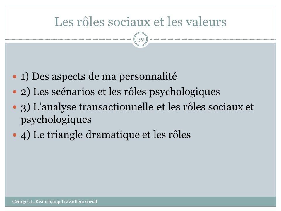 Les rôles sociaux et les valeurs