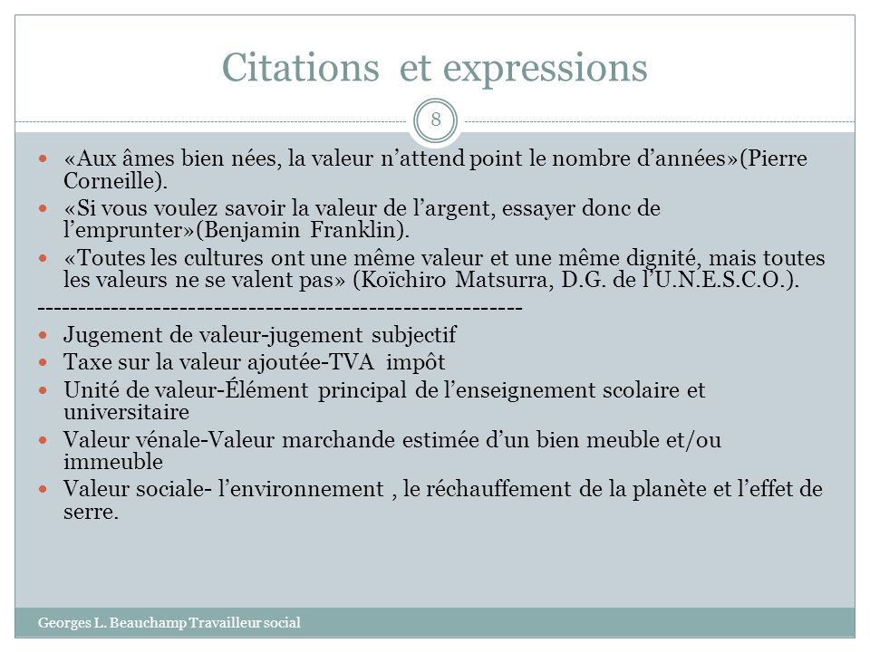 Citations et expressions