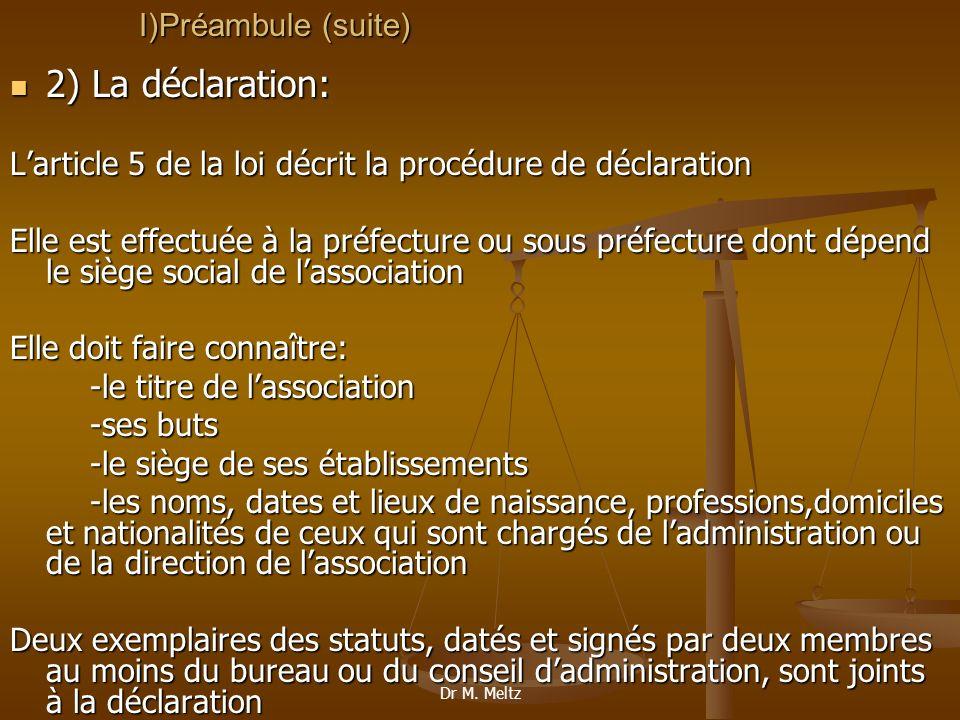 2) La déclaration: I)Préambule (suite)