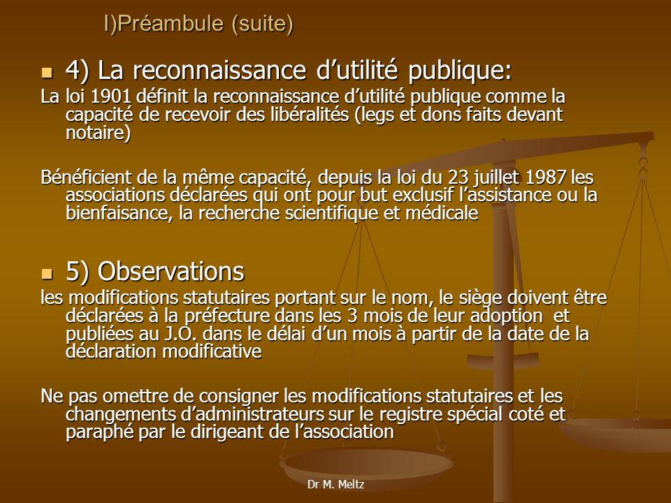 4) La reconnaissance d'utilité publique: