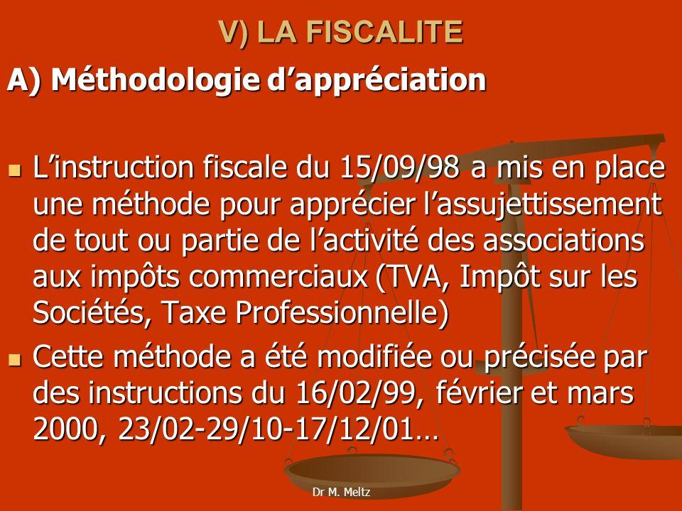 A) Méthodologie d'appréciation