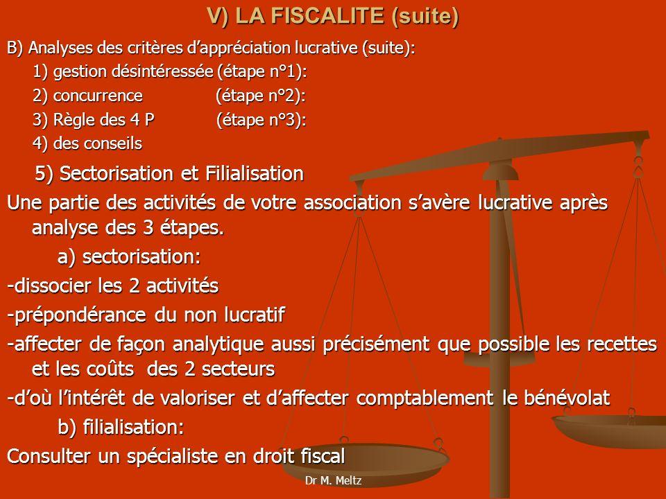 V) LA FISCALITE (suite)