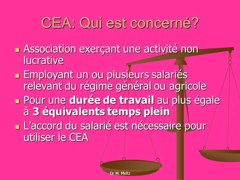 CEA: Qui est concerné Association exerçant une activité non lucrative
