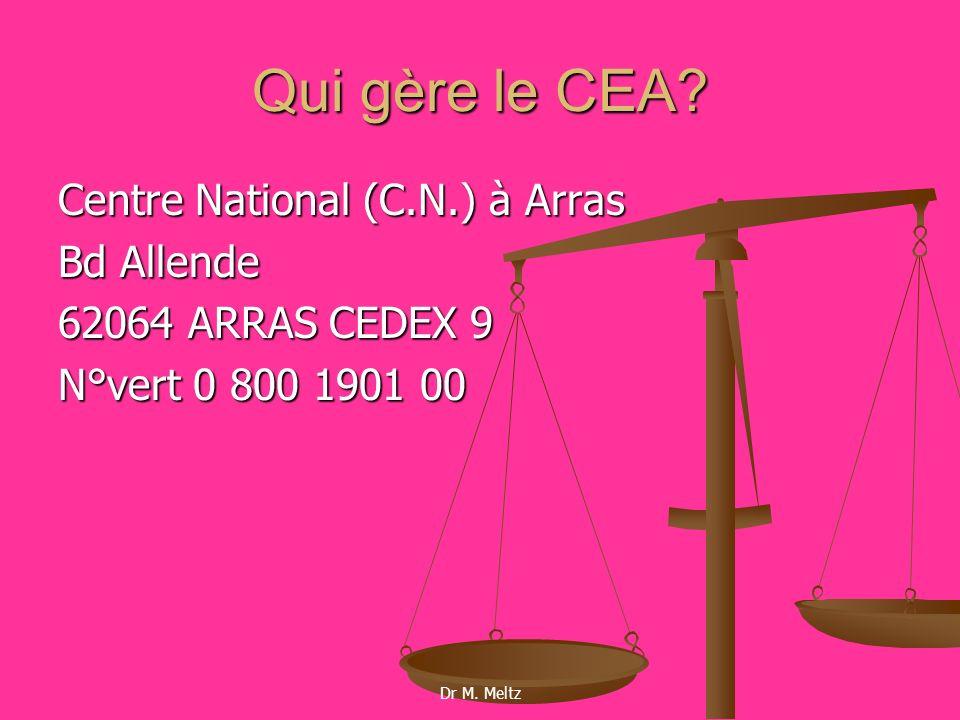 Qui gère le CEA Centre National (C.N.) à Arras Bd Allende