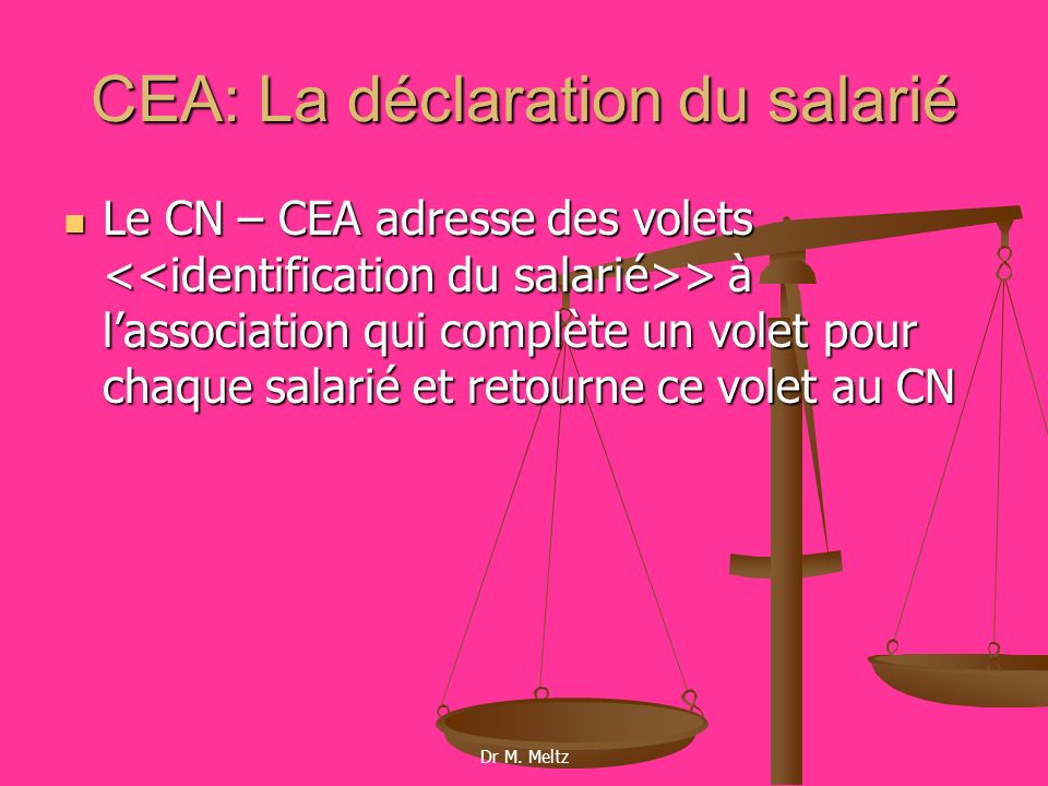 CEA: La déclaration du salarié