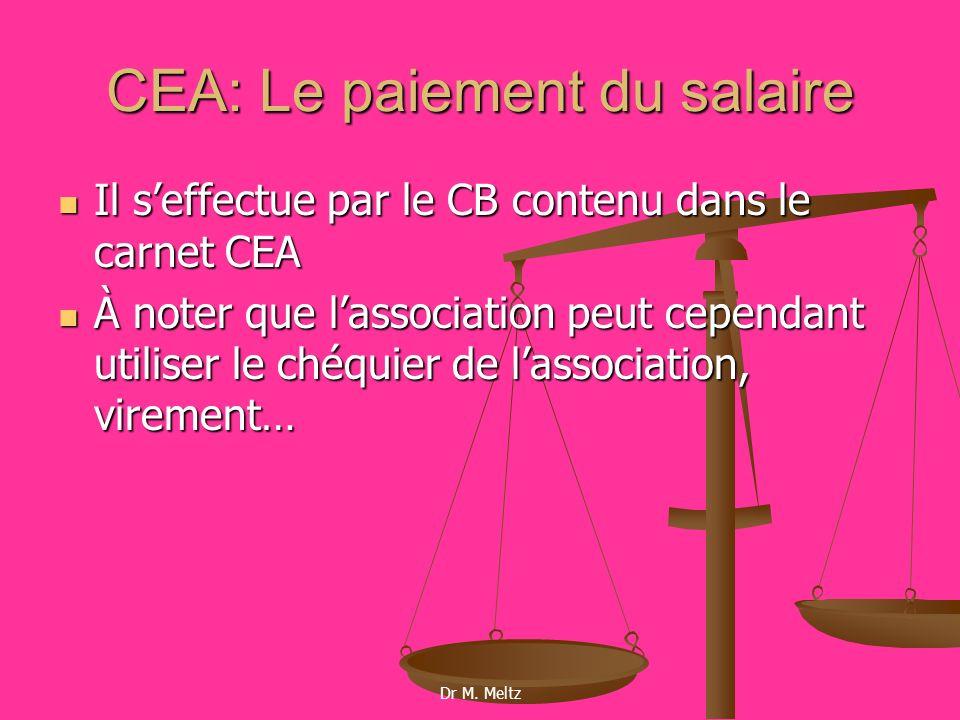 CEA: Le paiement du salaire