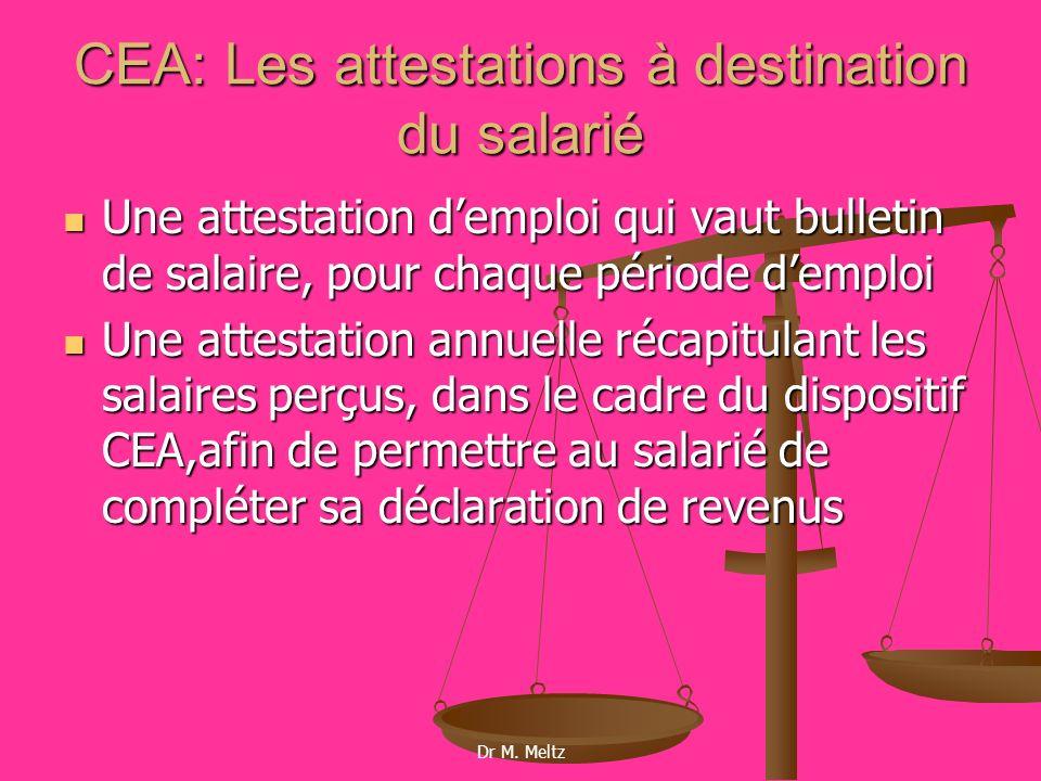 CEA: Les attestations à destination du salarié