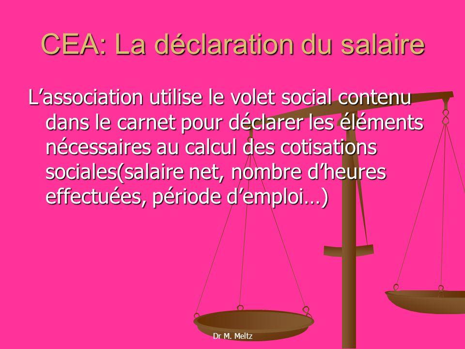 CEA: La déclaration du salaire
