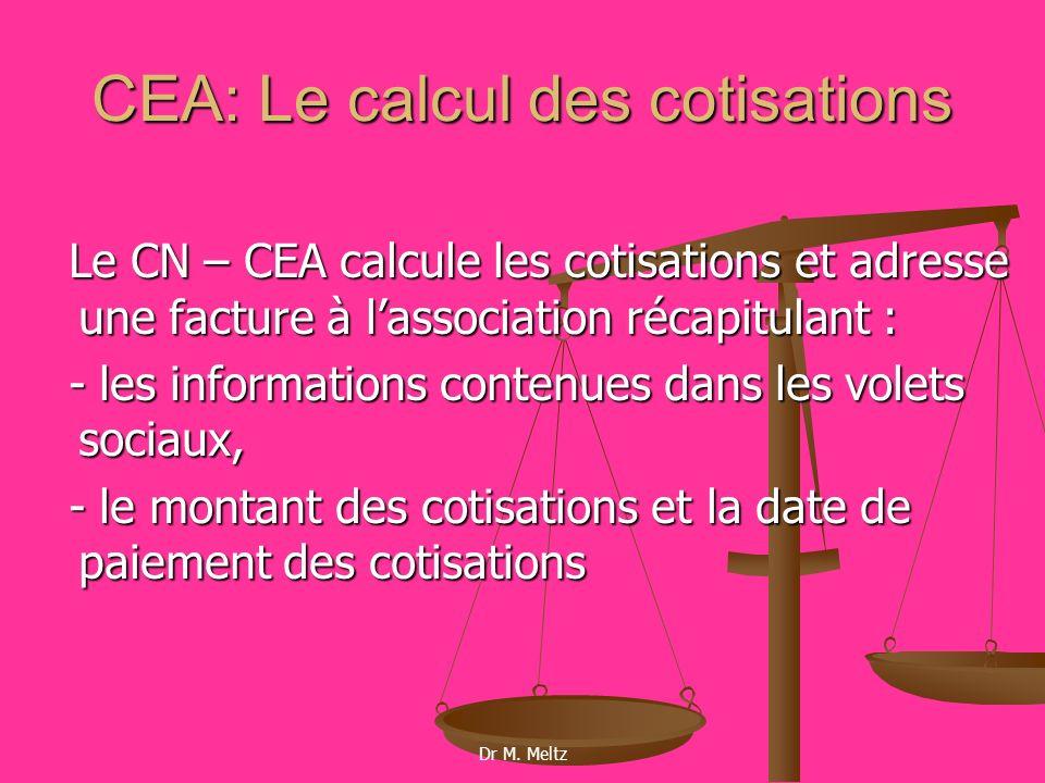 CEA: Le calcul des cotisations
