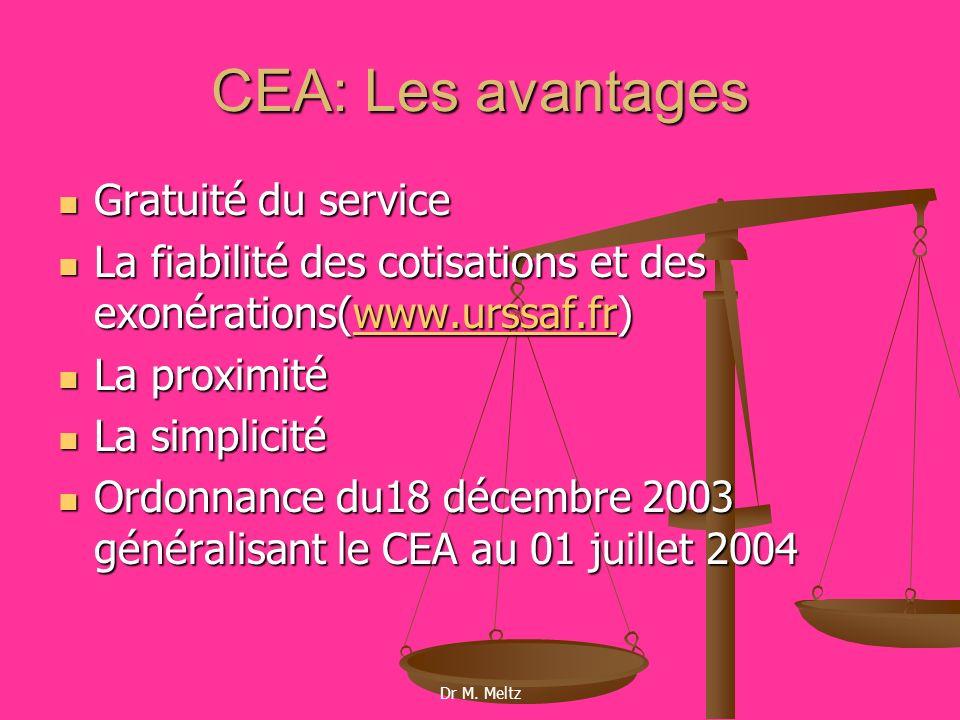 CEA: Les avantages Gratuité du service