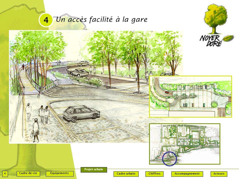 4 Un accès facilité à la gare < Projet urbain Cadre de vie