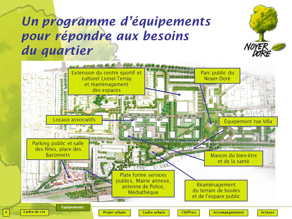 Un programme d'équipements pour répondre aux besoins du quartier