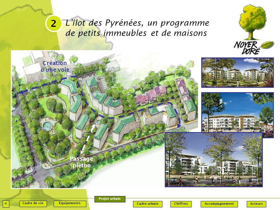 2 L'îlot des Pyrénées, un programme de petits immeubles et de maisons