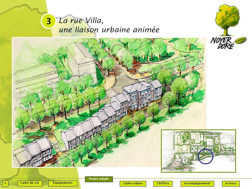 3 La rue Villa, une liaison urbaine animée < Projet urbain