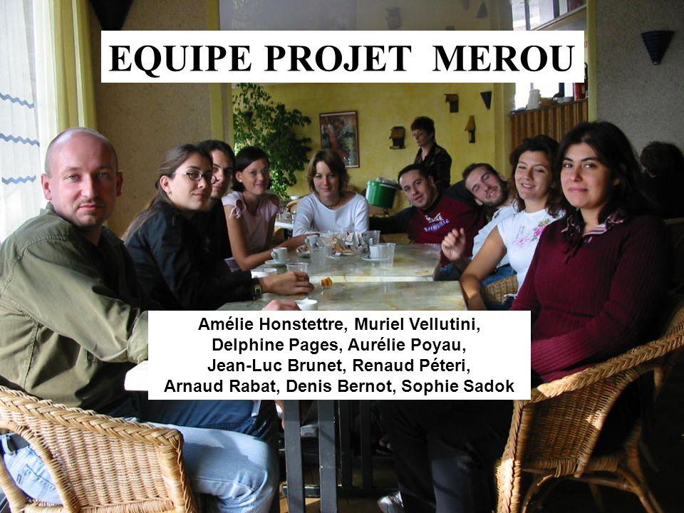 EQUIPE PROJET MEROU Amélie Honstettre, Muriel Vellutini,