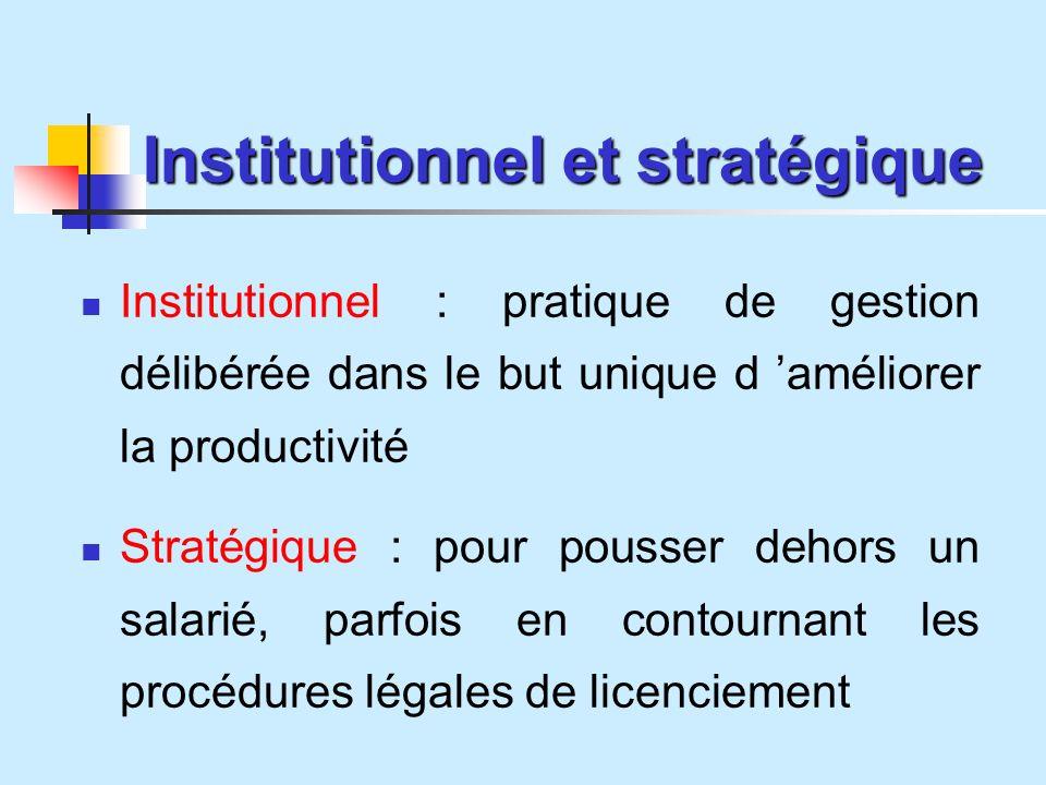 Institutionnel et stratégique