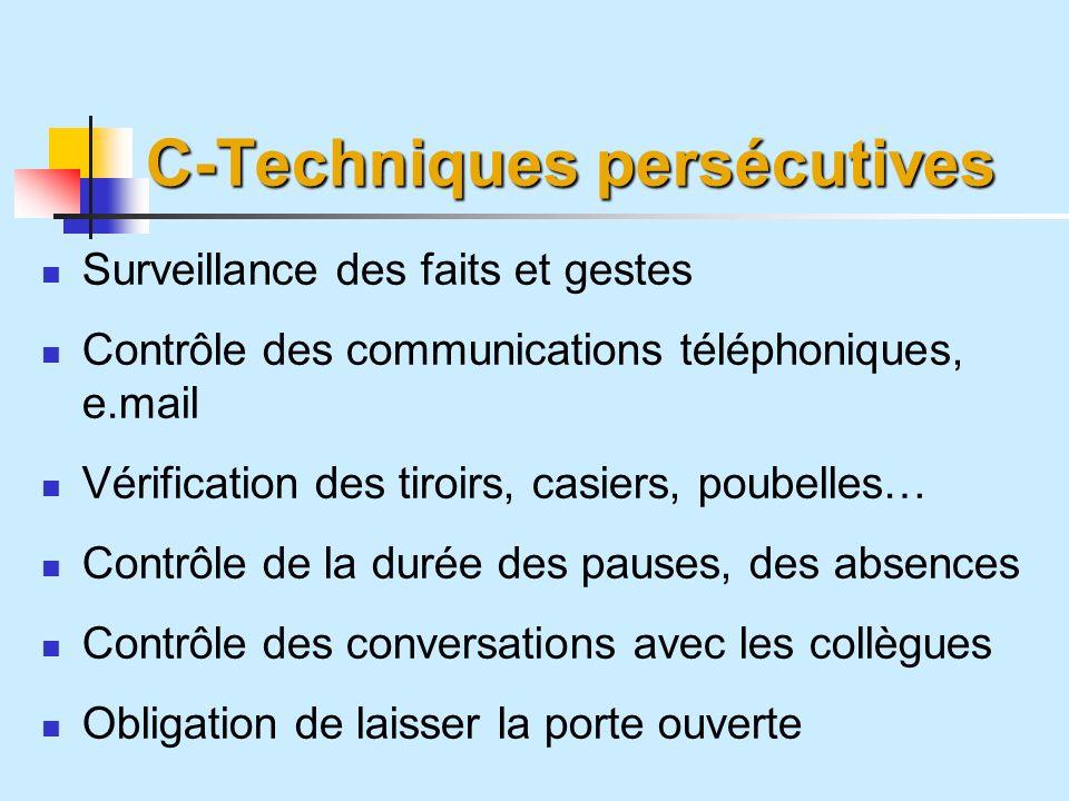 C-Techniques persécutives