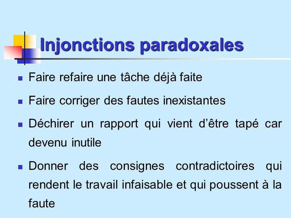 Injonctions paradoxales