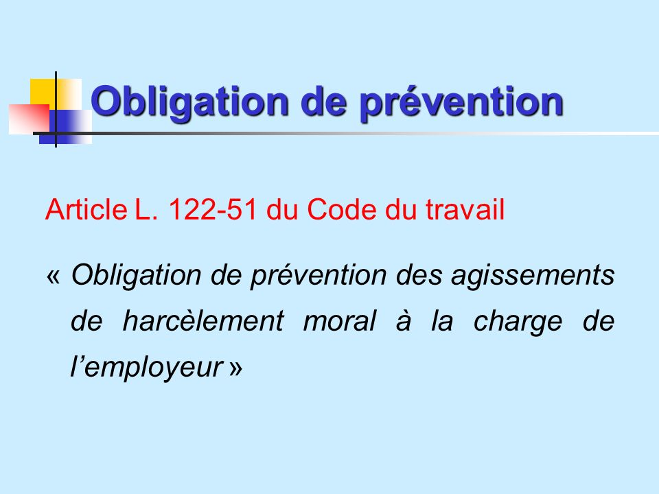 Obligation de prévention