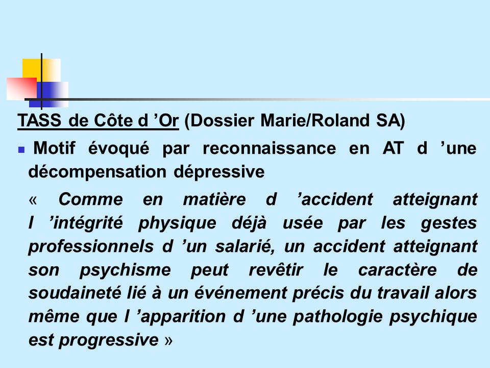 TASS de Côte d 'Or (Dossier Marie/Roland SA)