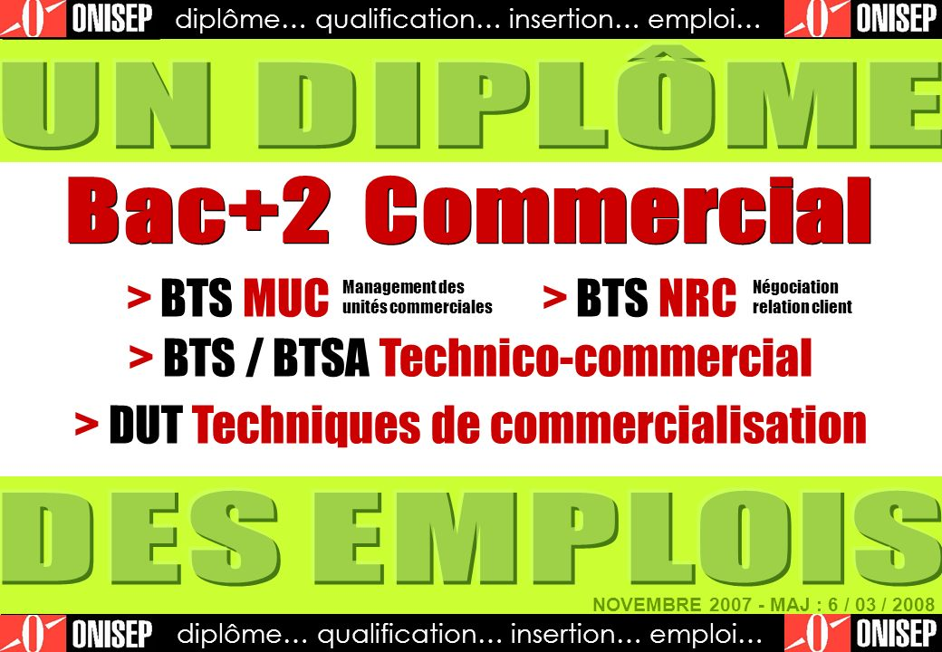 > BTS MUC > BTS NRC > BTS / BTSA Technico-commercial