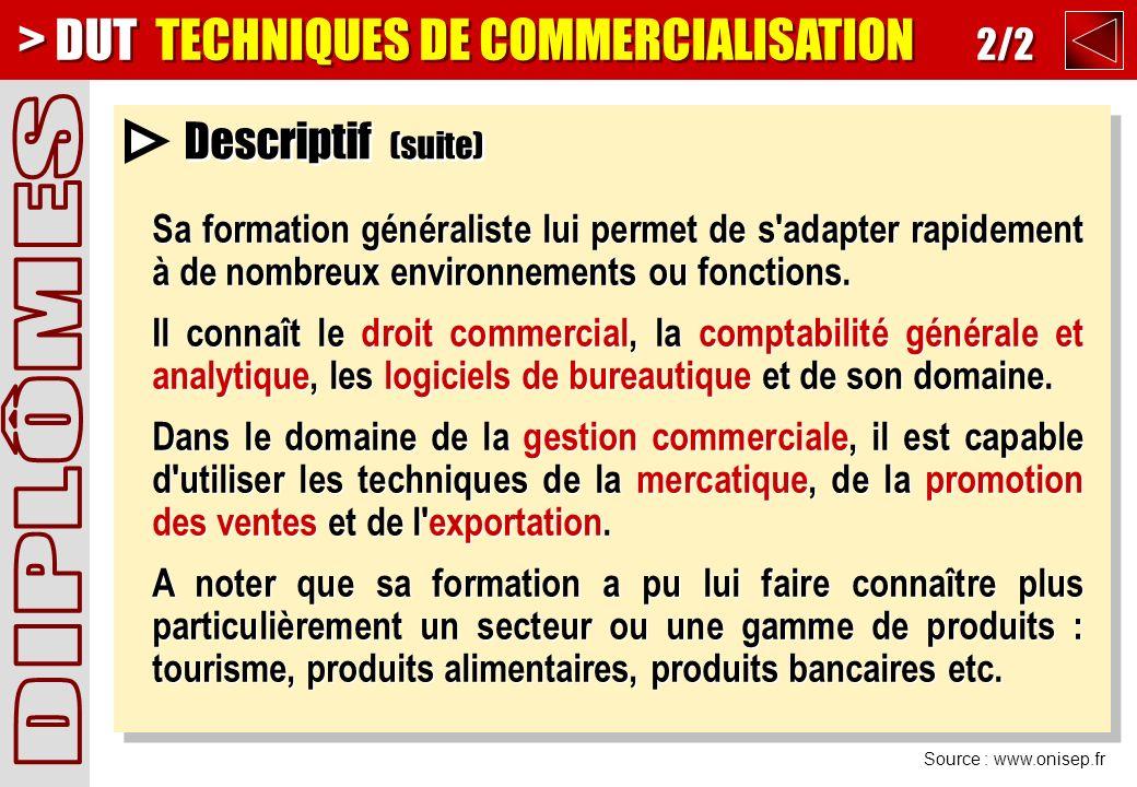 > DUT TECHNIQUES DE COMMERCIALISATION 2/2