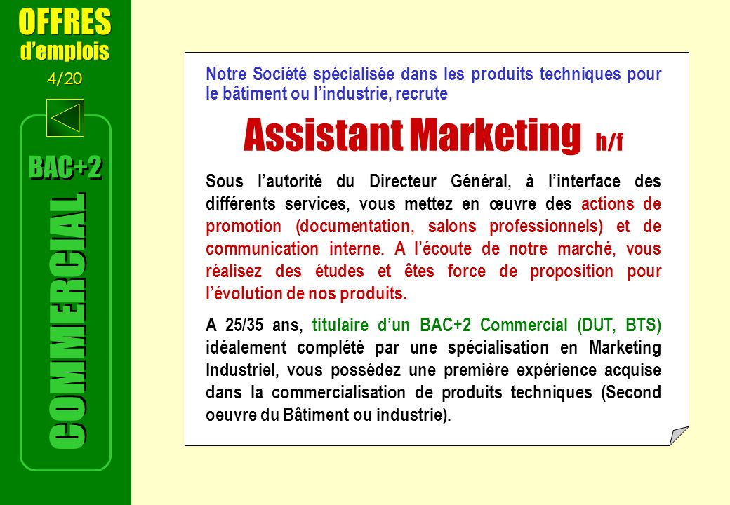 Assistant Marketing h/f