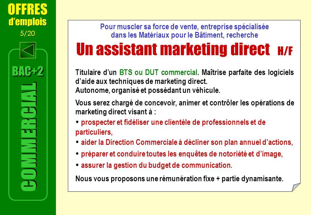 Un assistant marketing direct H/F