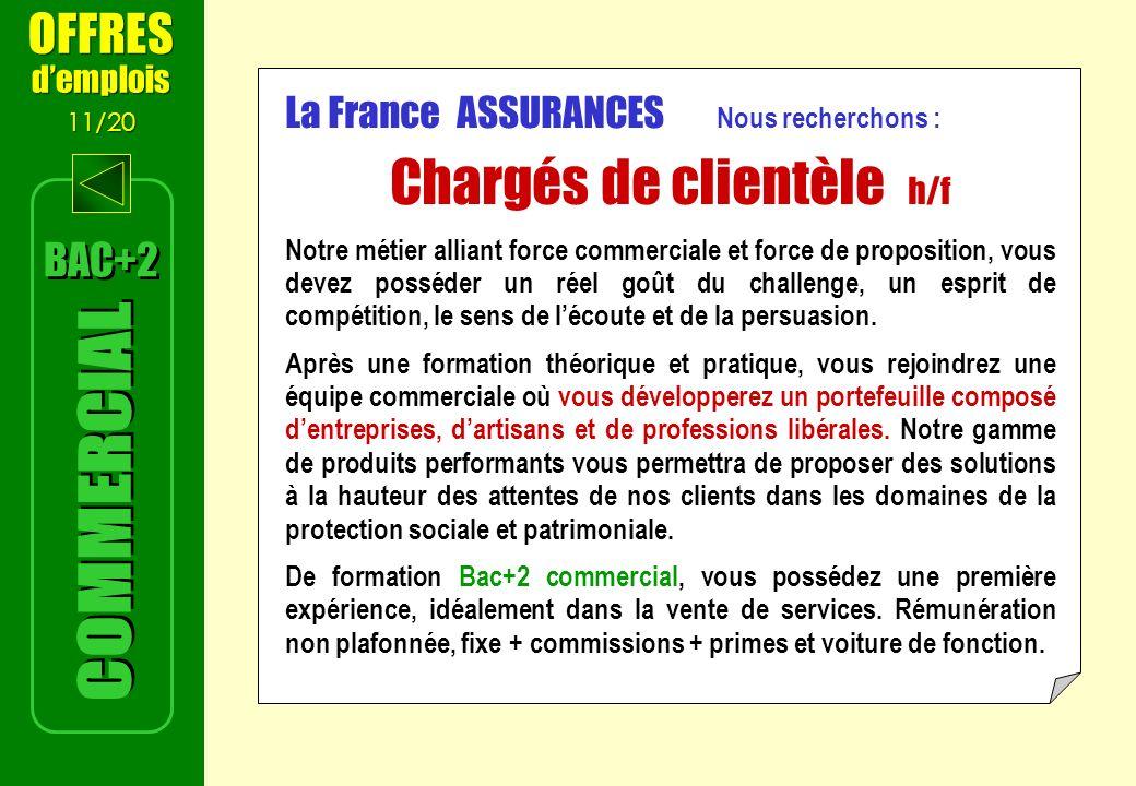 Chargés de clientèle h/f